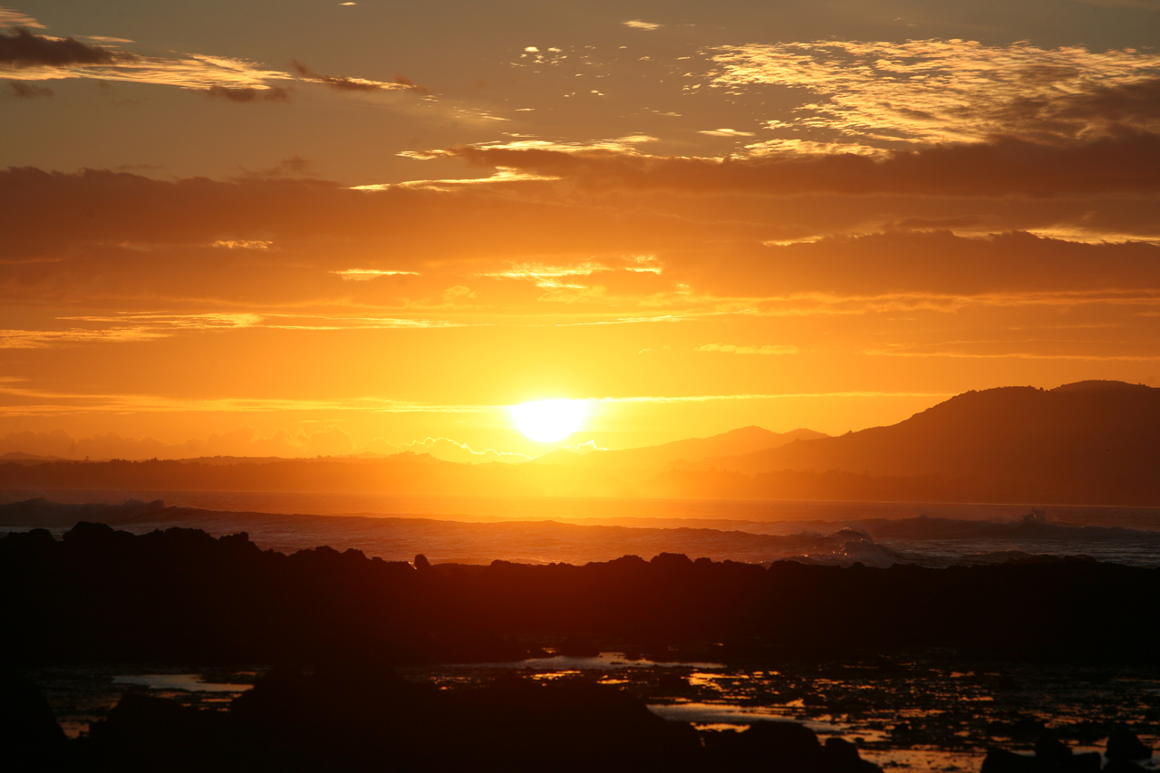 Sunrise at Tauroa Point, Northland, New Zealand